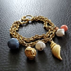 Double strand charm bracelet